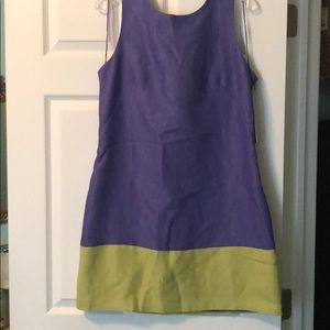 Purple and Lime Green dress